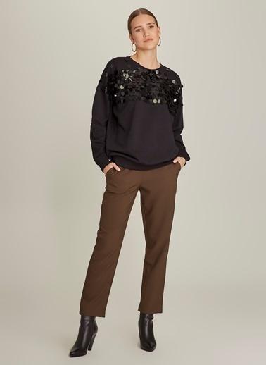 NGSTYLE Payet İşlemeli Sweatshirt Siyah